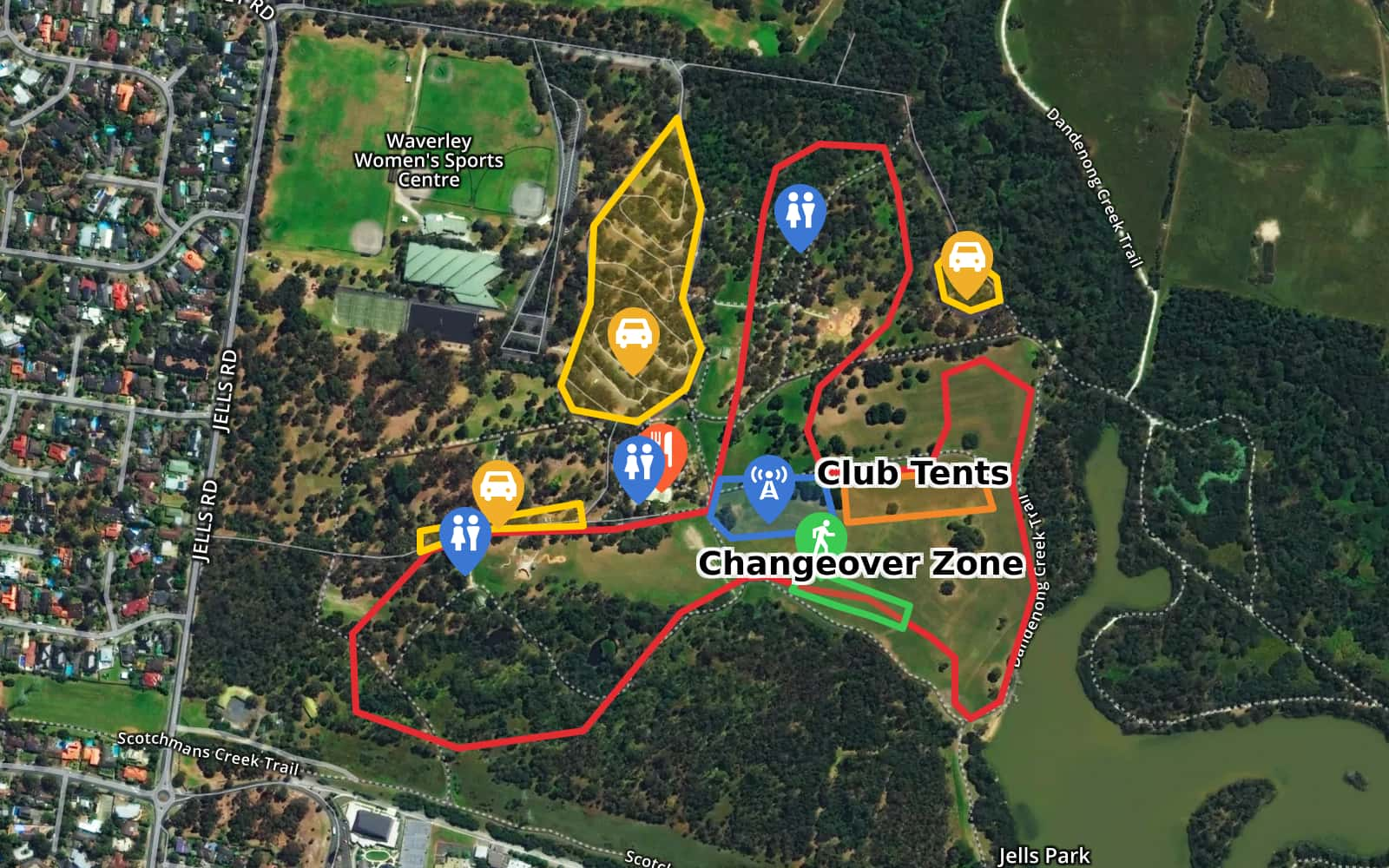 Jells Park Map XCR'18 Round 1   Jells Park Relay by athleticsvictoria · MapHub