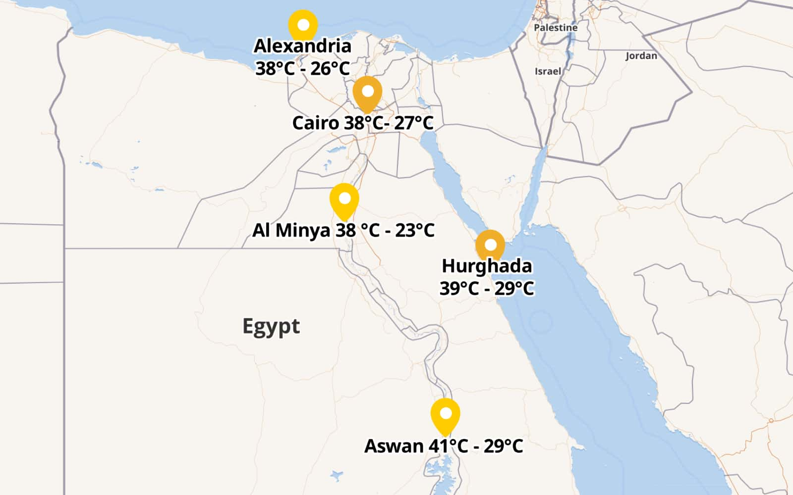 Blazing Heat Over Upper Egypt Cairo 38 C By Rehab Maphub